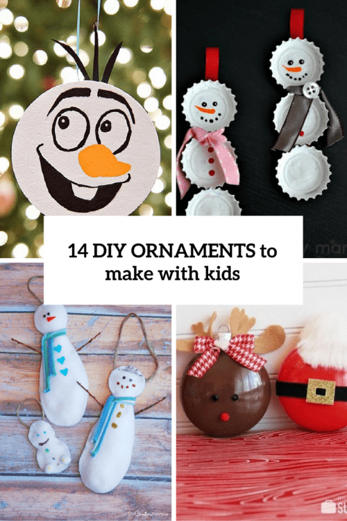 14 Easiest DIY Christmas Ornaments To Make With Kids