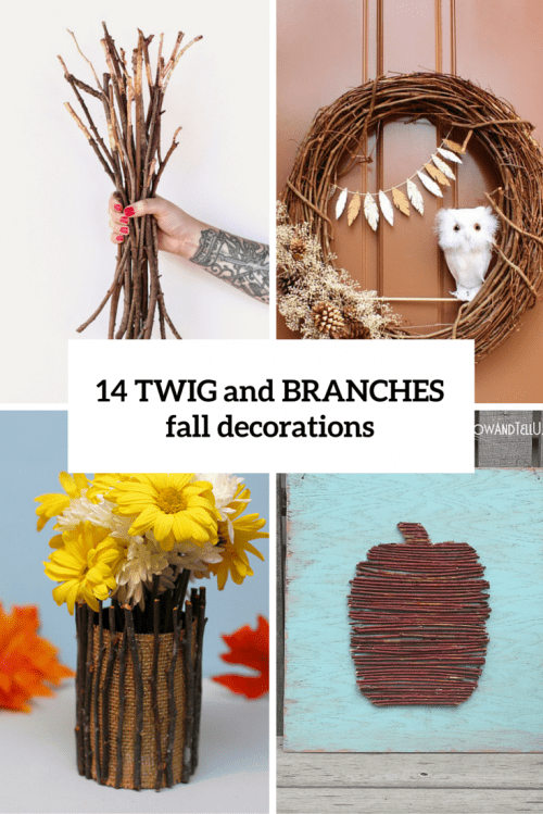 14 twig and branches decorations cover