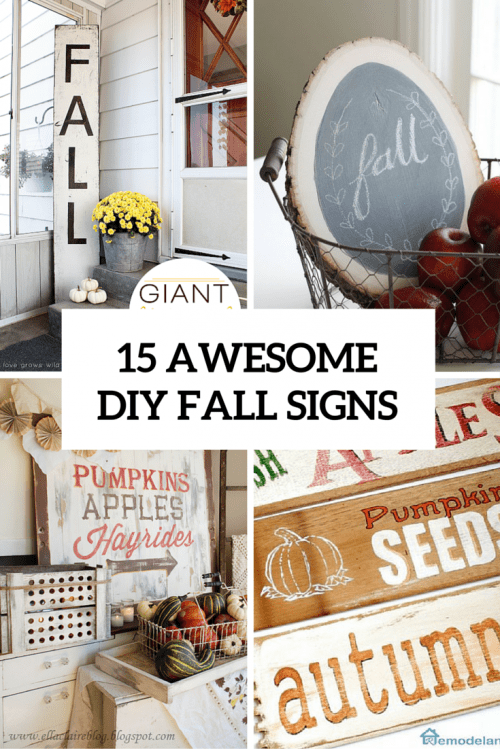 15 Awesome DIY Fall Signs For Indoors And Outdoors