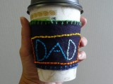 DIY Coffee Cozy For Fathers Day