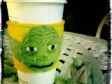 DIY Yoda Coffee Cup Cozy