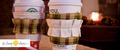 DIY Ruffled Coffee Cozy