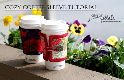 Cozy Coffee Sleeve Tutorial (via alysonspetals)
