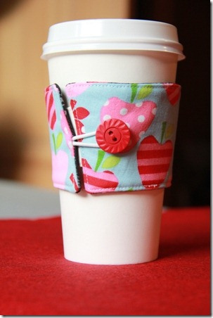 DIY Reversible Coffee Cup Sleeves