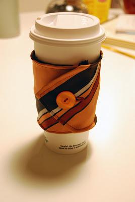 Tie Coffee Cozy Tutorial (via limeandaquastudio)