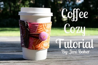 Fabric coffee sleeve tutorial (via skiptomylou)