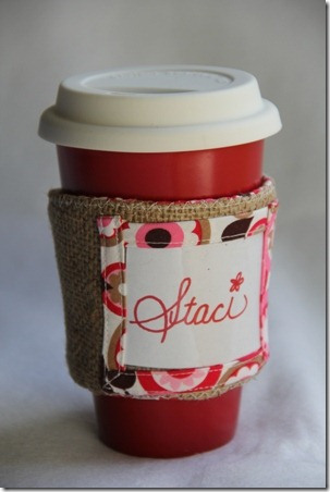 DIY Mug Cozy Of Cotton Fabric