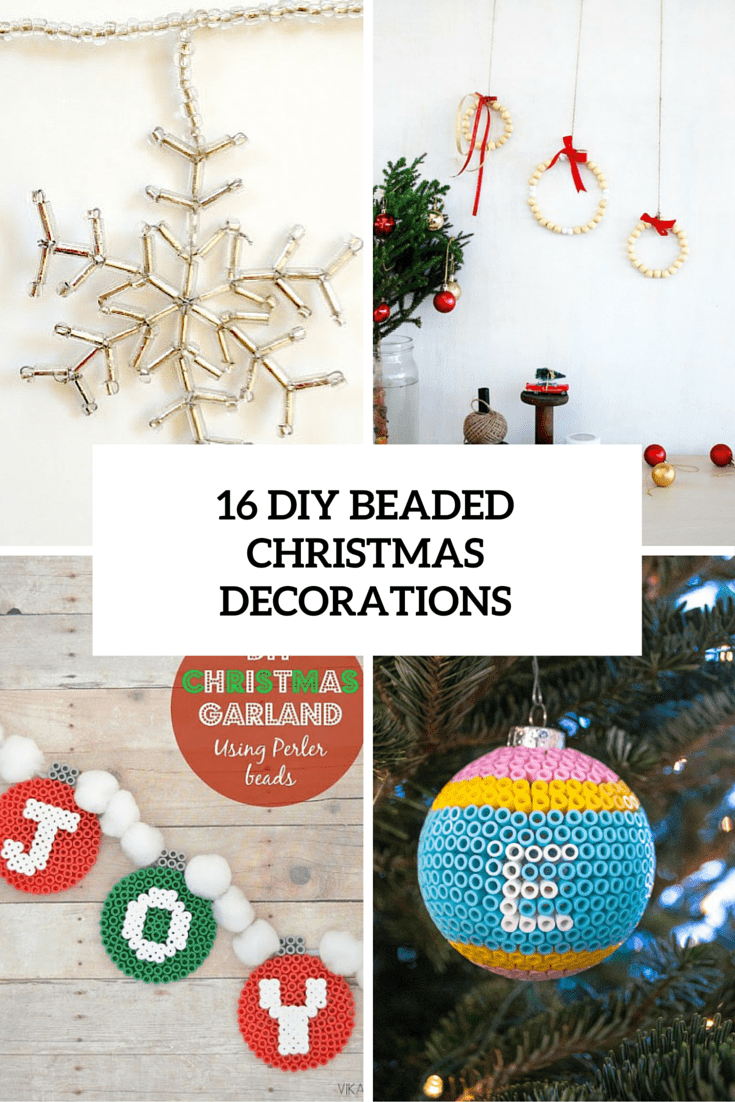 16 diy beaded christmas decorations cover