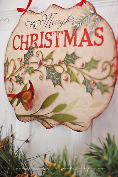 20 Minute DIY Christmas Wreath With A Sign (via komodik)