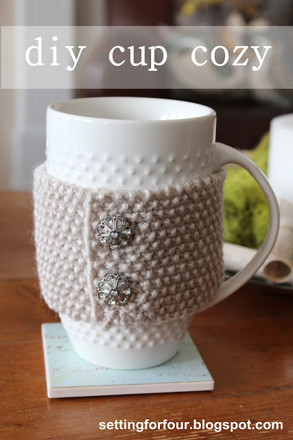 DIY Cup Cozy Sleeve (via settingforfour)