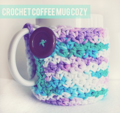 Cool Crochet Mug Cozy Pattern (via peacoatsandplaid)