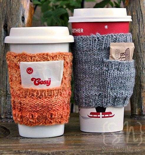 DIY Cozy Cup Cloth With A Pocket (via simplynotable)