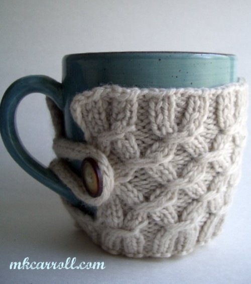 DIY Mug French Press Jacket (via ravelry)