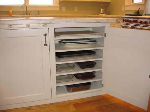 DIY cupboard to store casserole dishes
