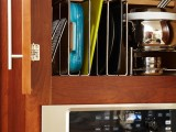 Integrated baking dish storage