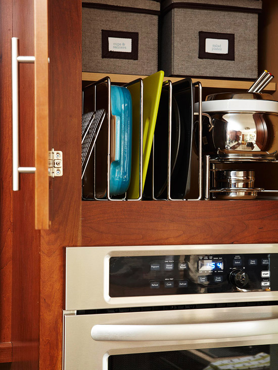 integrated baking dish storage shelterness