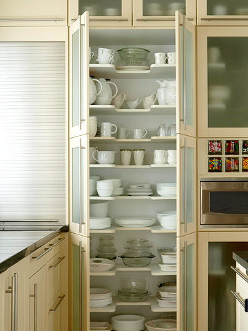 Kitchen Cabinets Or Shelves For Dishes