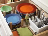 Creative dishes storage in a drawer