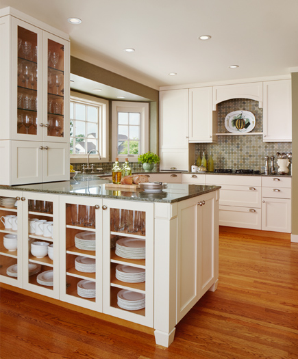 Island loaded with dishes storage (via michigandesign)