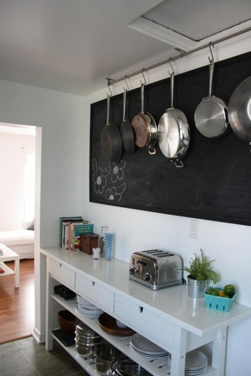 20 creative ideas to organize pots and pans storage on your kitchen 500x750