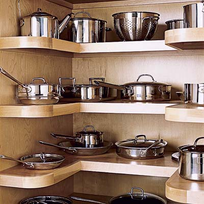 U Shaped Pantry To Store Pots And Pans (via Thisoldhouse)