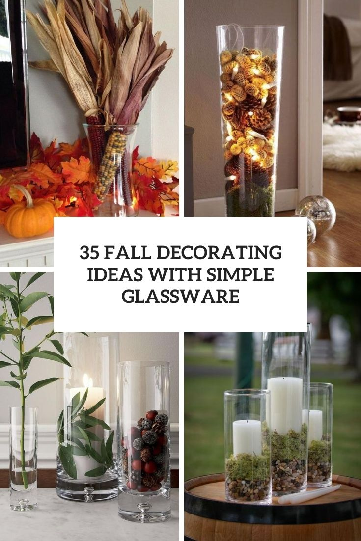 fall decorating ideas with simpel glassware cover