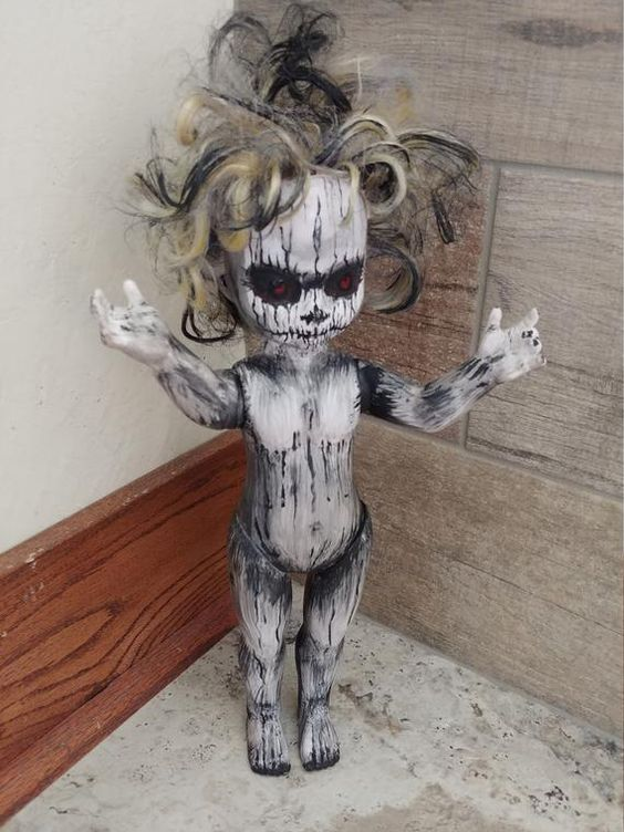 a demonic ghost like this one can be made of a usual doll and will scary everyone at once