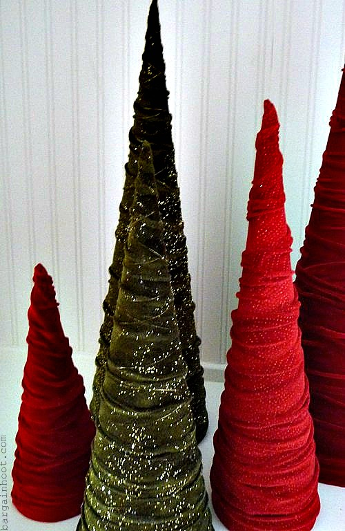 Christmas Decorations Cone Trees : Cute cone shaped christmas trees shelterness