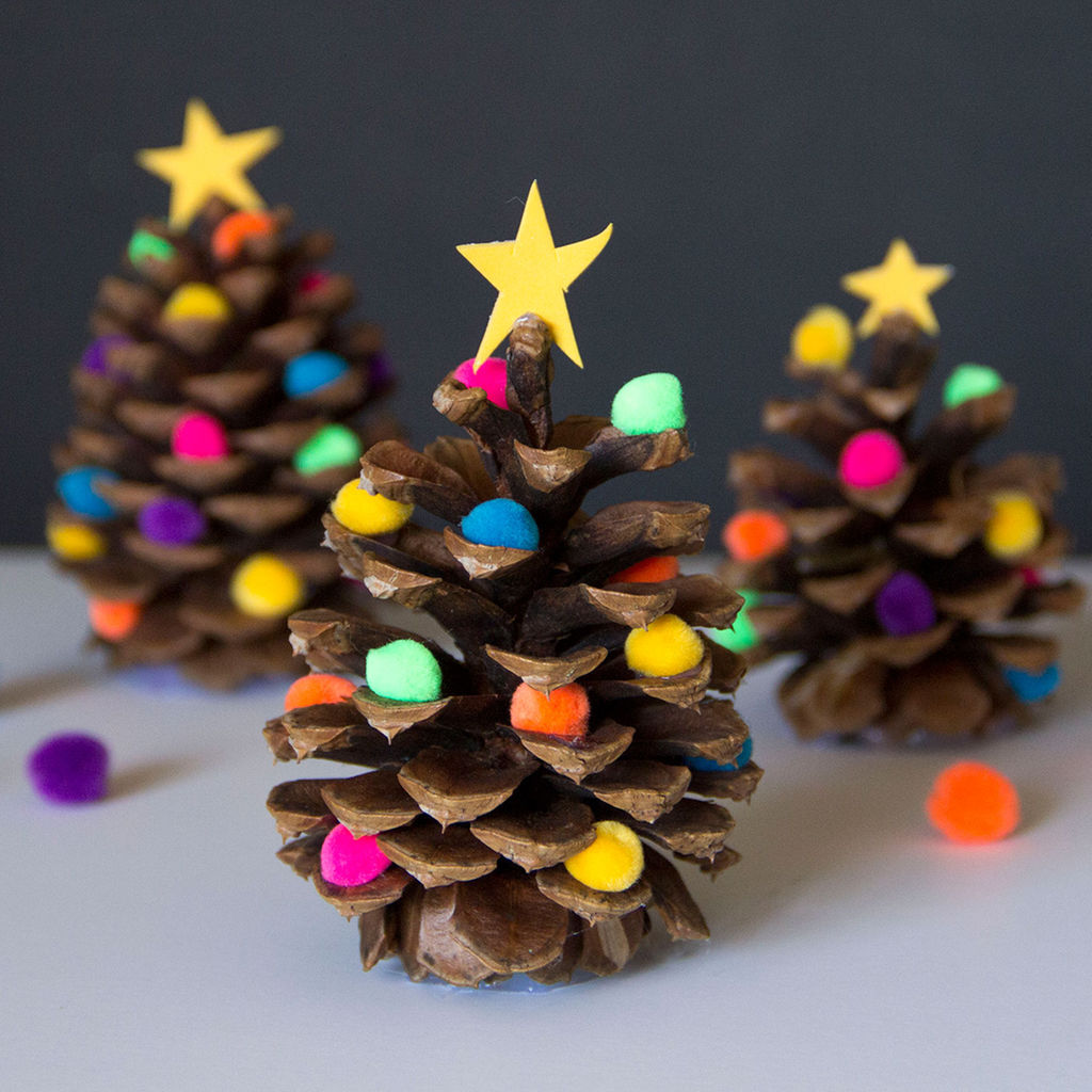 cute cone shaped christmas trees