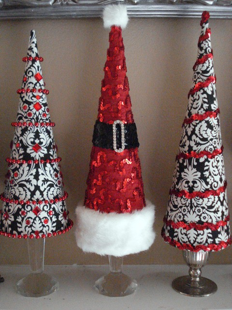 Christmas Decorations Cone Trees : Picture of cute cone shaped christmas trees