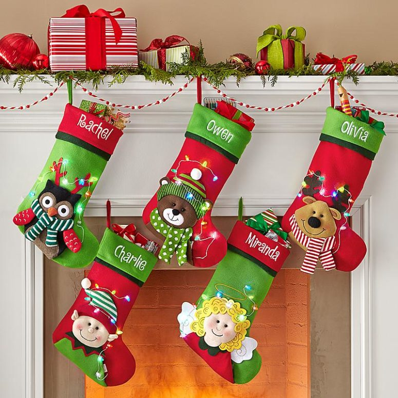 75 christmas stockings decorating ideas shelterness for Xmas decorations ideas images