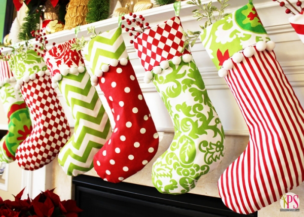 From pom-poms to stripes, colorful Christmas stockings are a great addition to any home.