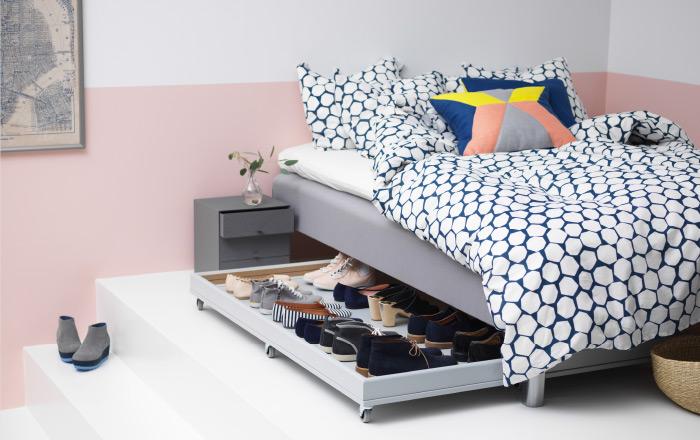 DIY Ikea Under Bed Shoe Storage Hack From A Kitcehn Cabinet Door