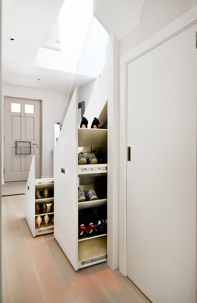contemporary staircase storage solution