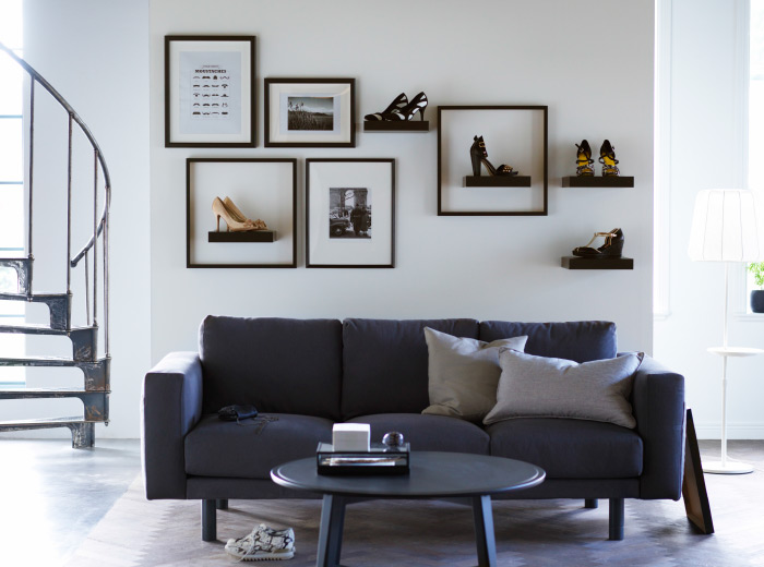 even small IKEA LACK shelves could be used to display your favorite high-heel shoes
