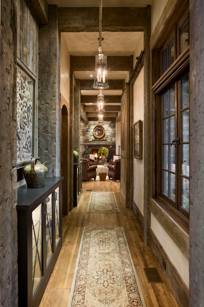 Rustic Style Suits Well Any Hallway
