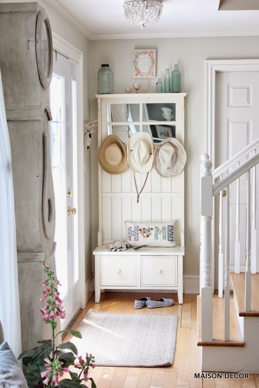 shabby charm is more then welcome when you enter the house