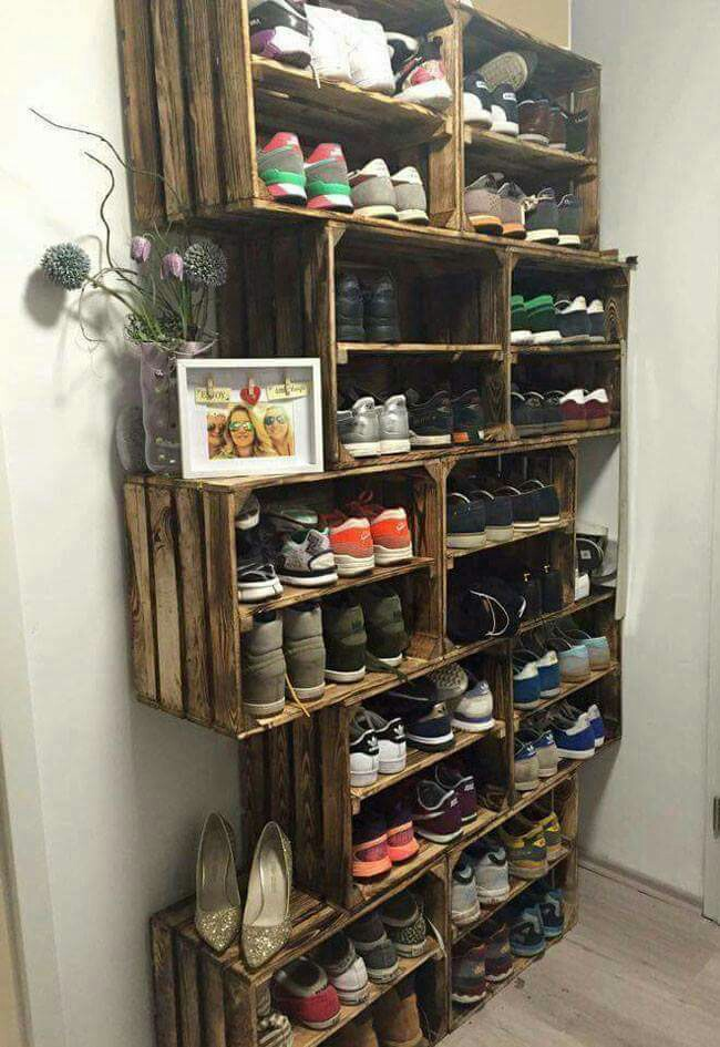 Super Diy Shoes Storage For A Mudroom From Old Crates