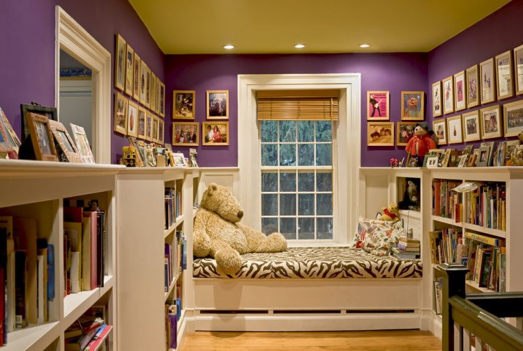 super cozy hallway with a reading nook