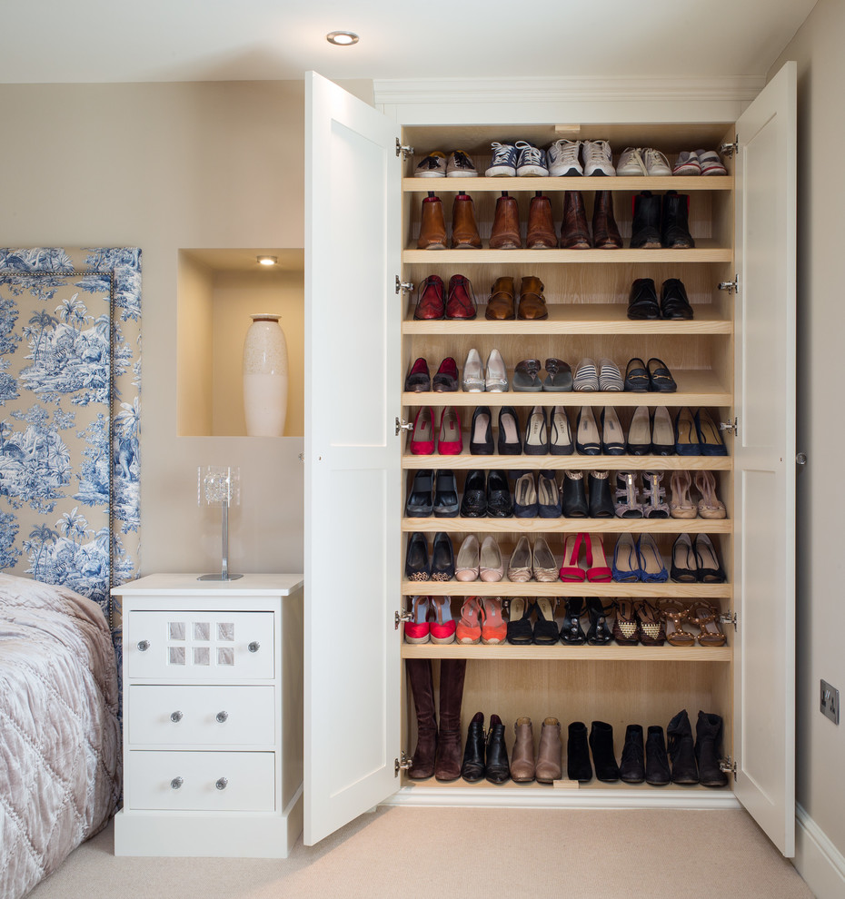 this is how a built in wardrobe could be used to store your whole collection