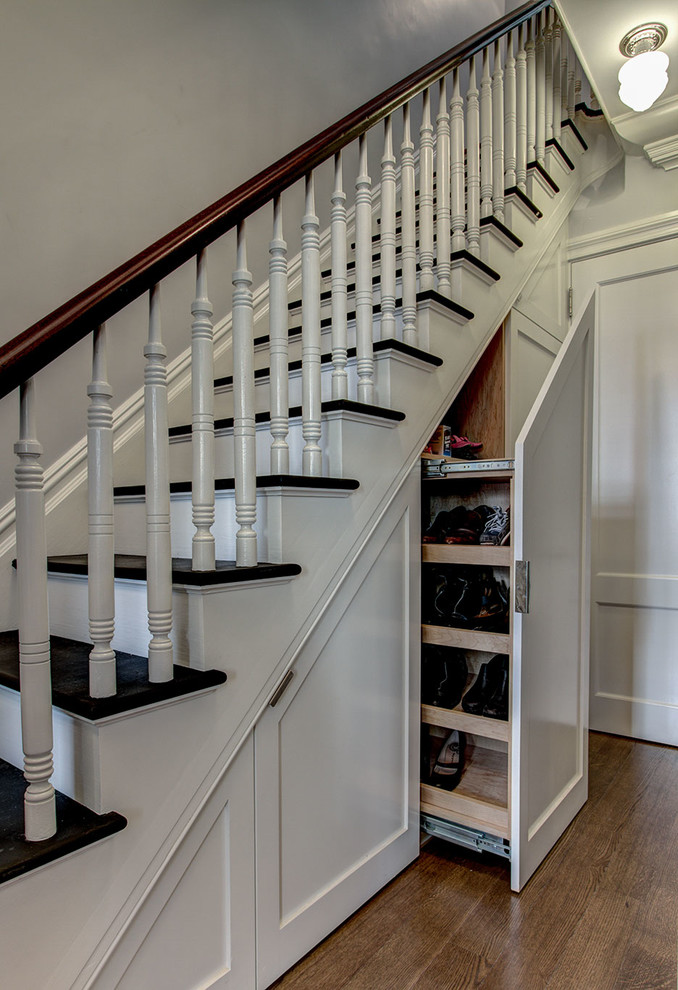 Under Stairs Is A Perfect Hidden Shoe Storage Solution