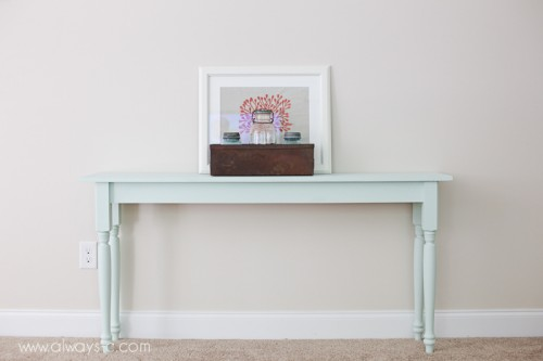 DIY space-saving console table design (via shelterness)