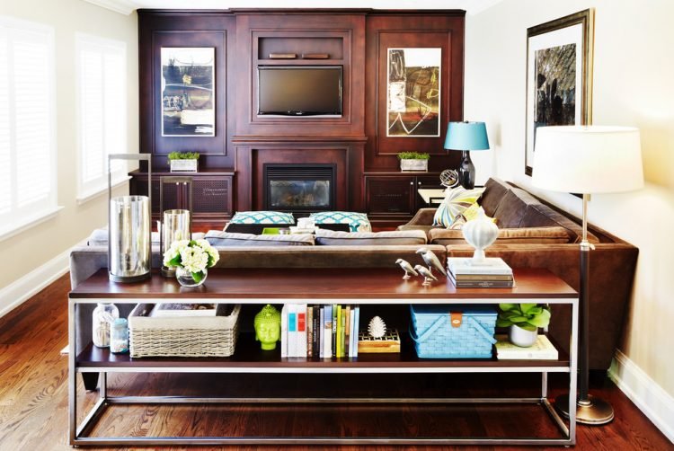 47 console table decor ideas shelterness console table for an additional storage behind a sofa watchthetrailerfo