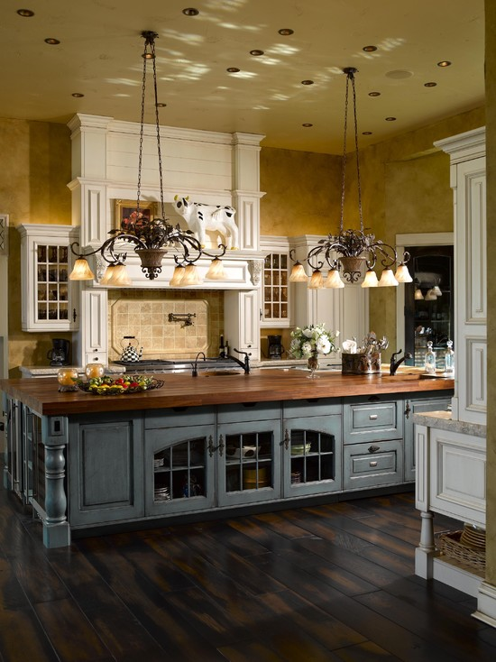 63 gorgeous french country interior decor ideas shelterness for Country kitchen island designs