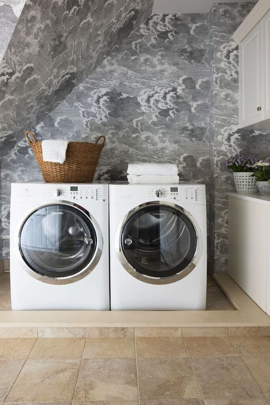 attic laundry room can turn out really well and this example proves that