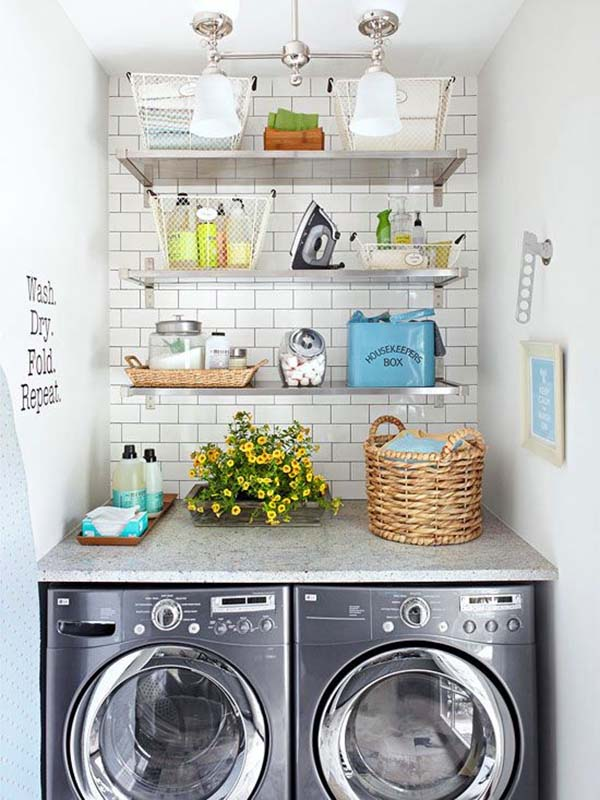 compact yet fully functional laundry space
