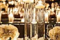 cool glowing wedding centerpiece with water