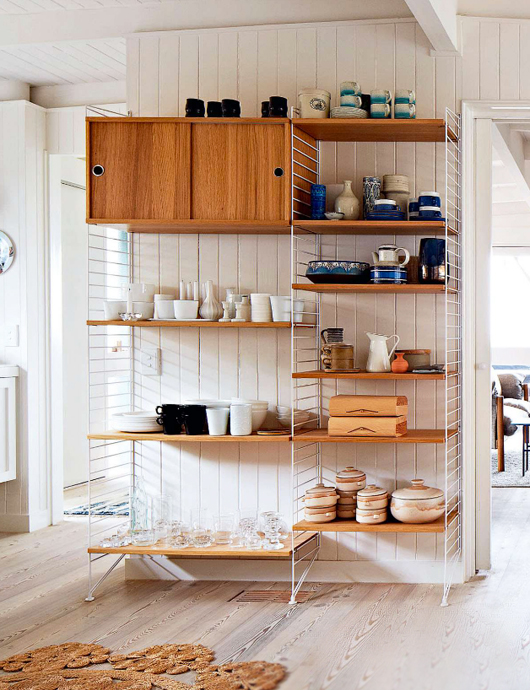 kitchen shelving units are a great altenative to standart tall kitchen cabinets