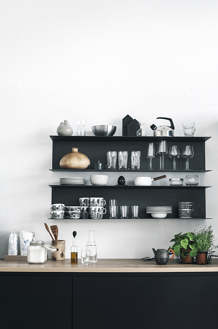 Quite Modern Open Wall Shelves