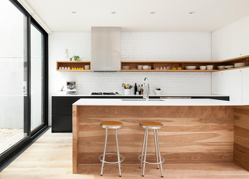 65 Ideas Of Using Open Kitchen Wall Shelves: Picture Of Super Stylish Wall Shelf That Looks Well On